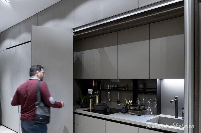 кухня мышиного цвета