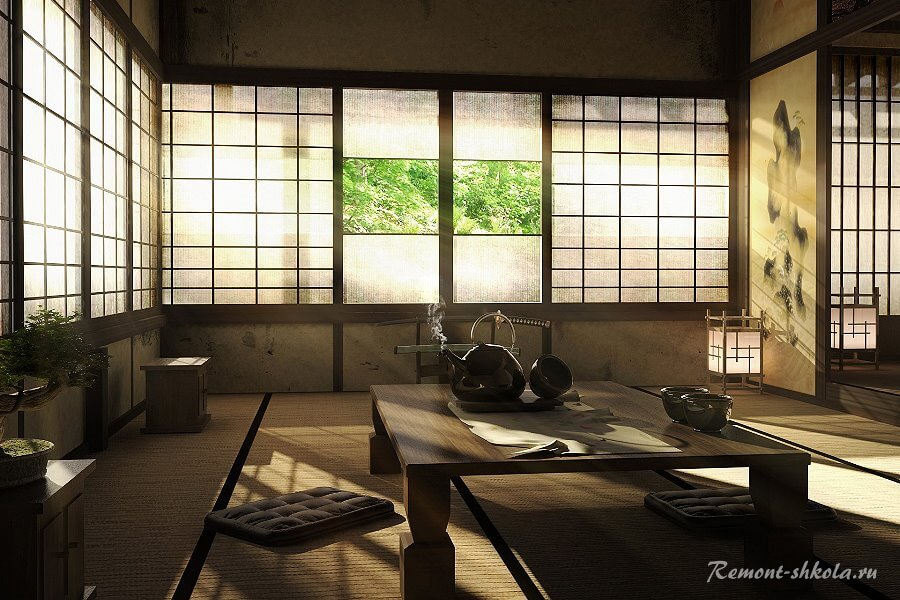 Меблировка в японском стиле