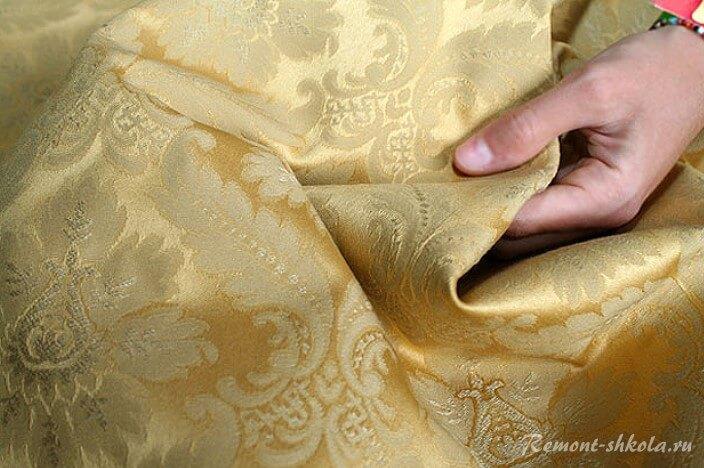 монохромная ткань дамаст