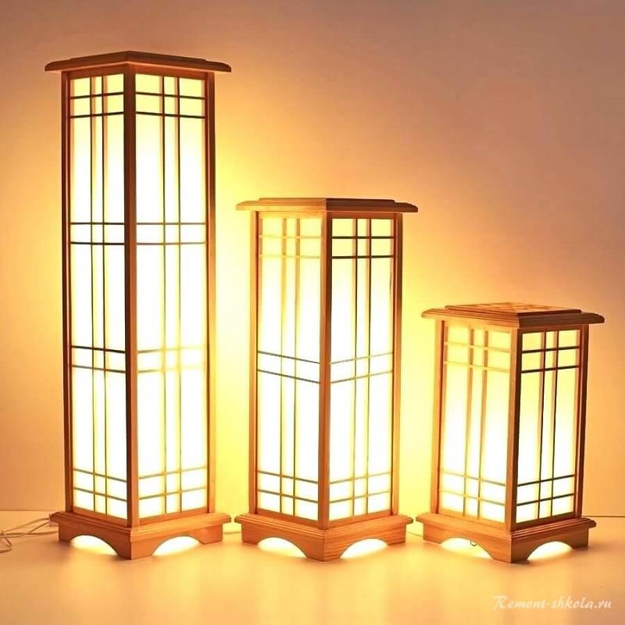 Напольные японские светильники