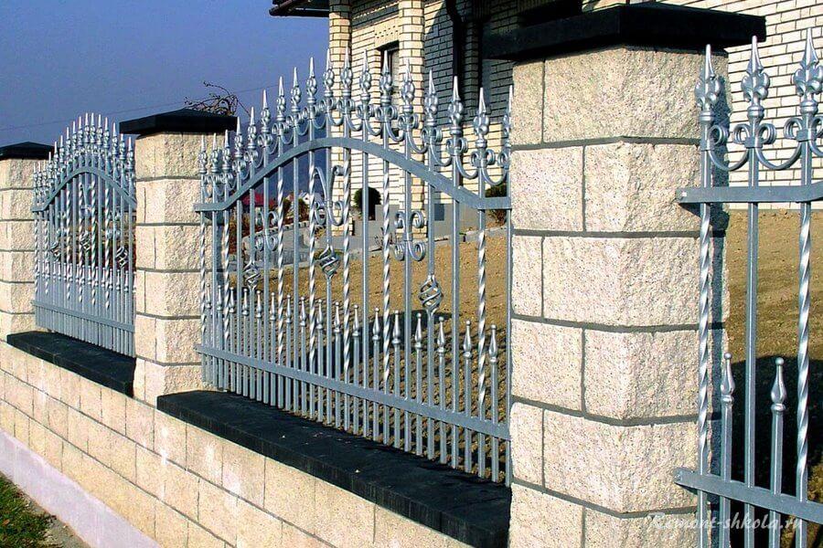 нарядный забор для частного дома
