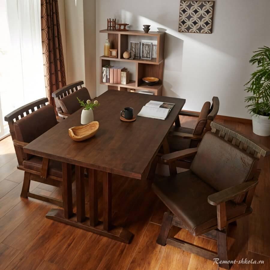 Обеденный стол в японском стиле