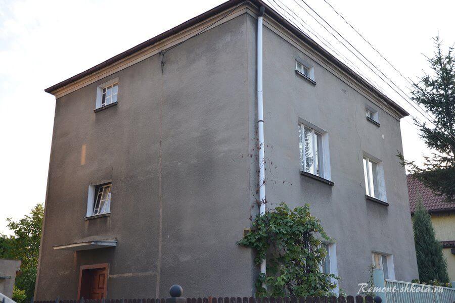Общий вид дома до реконструкции