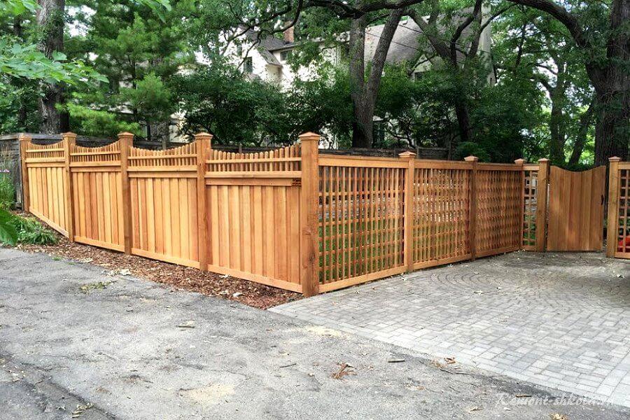 оригинальный забор для дачи