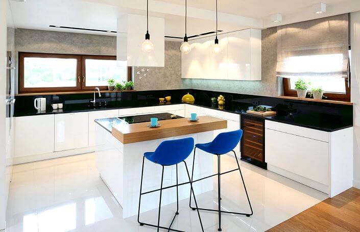 Островная кухня: фото с варочной поверхностью