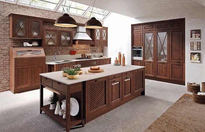 островная кухня в классическом стиле