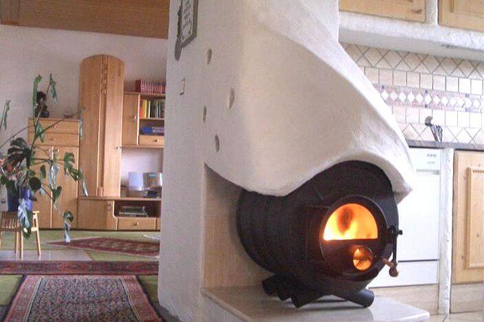Печка булерьян в доме
