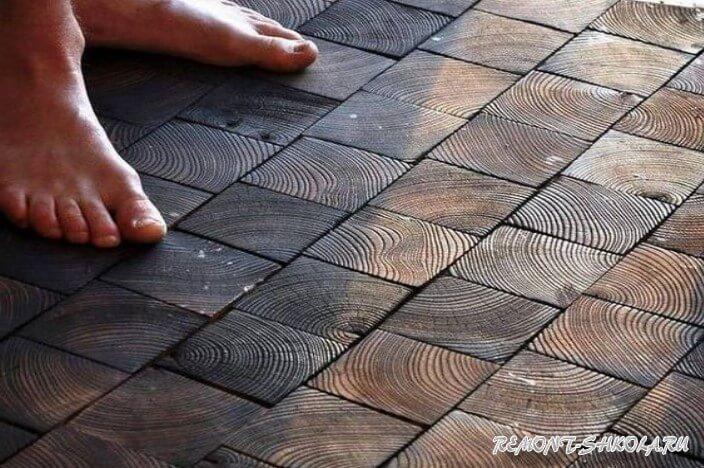 Пол из деревянной плитки