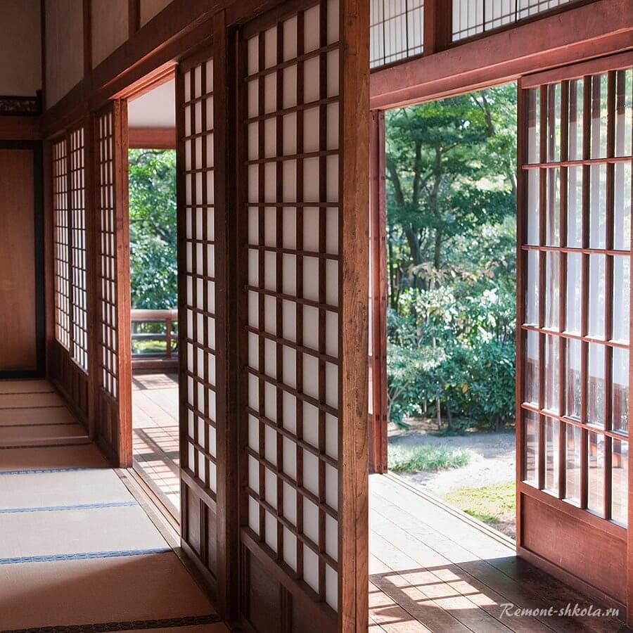 Раздвижные двери фусума