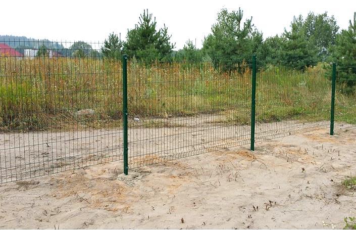 Секционный металлический забор из жёсткой проволоки