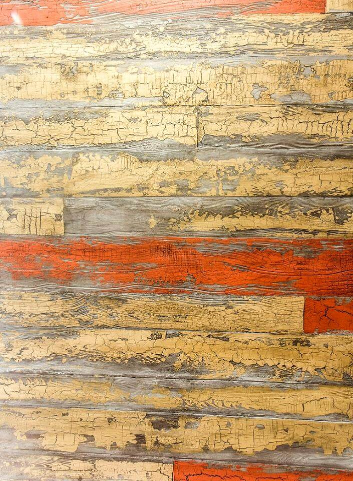штукатурка с эффектом старой деревянной поверхности покрытой краской