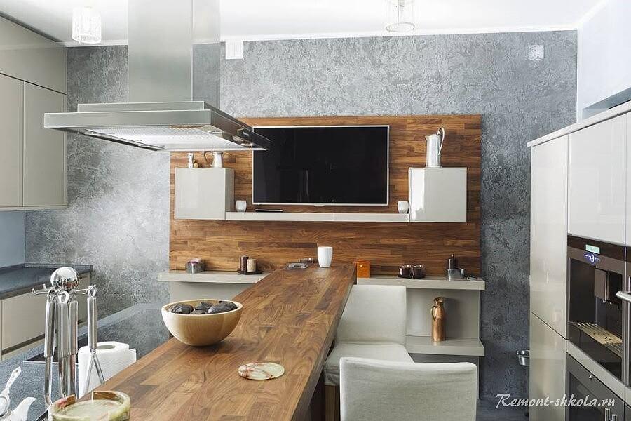 Кухня в сером