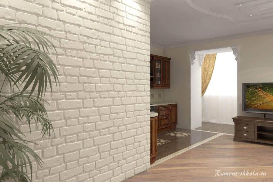 стена облицованная гипсовыми панелями