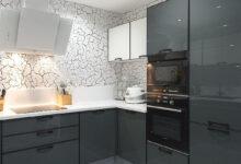 Фото Актуальное сочетание цветов в интерьере кухни