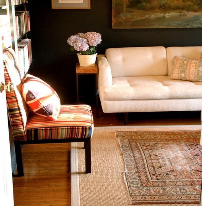 стильный ковёр из растительных волокон