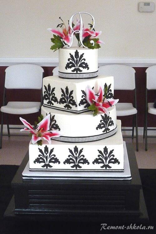 Торт с рисунком дамаск-2