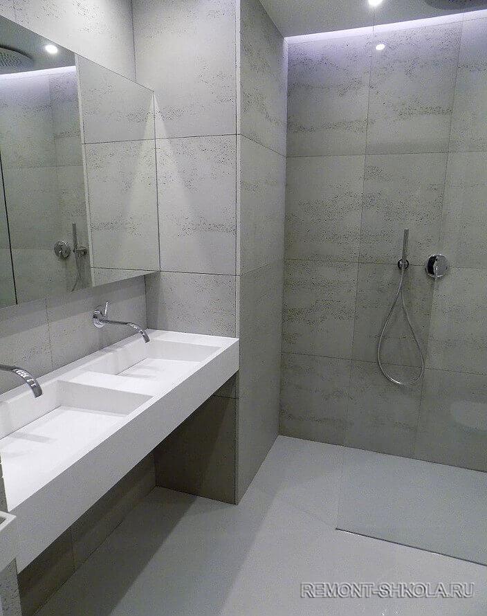 Ванная в архитектурном бетоне