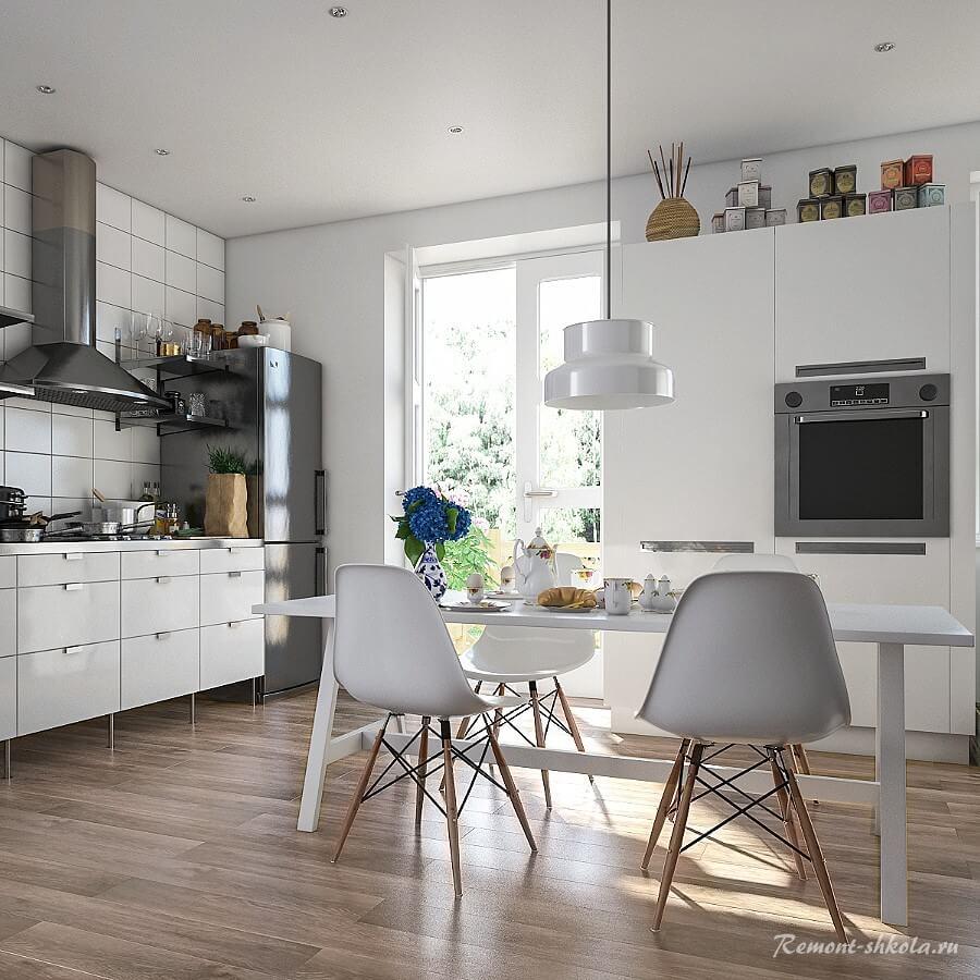Современная кухня с ламинатом