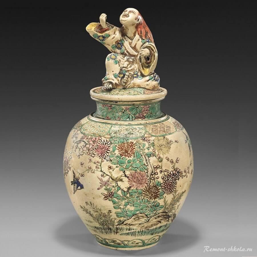 Японская керамическая ваза