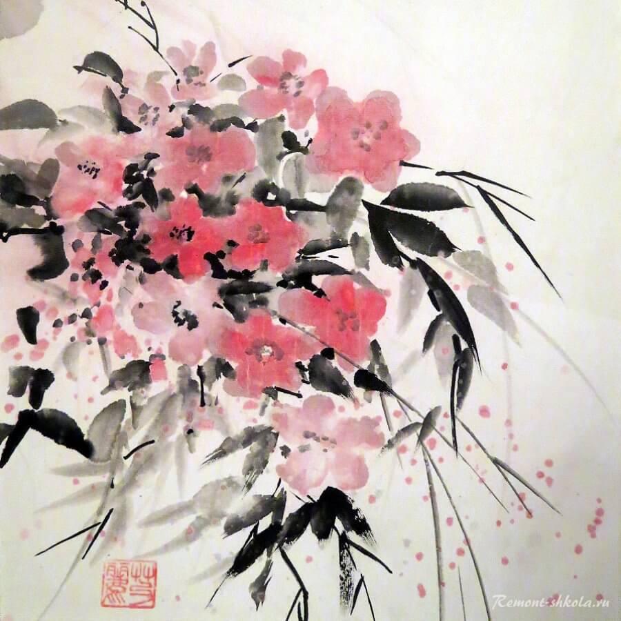 Суйбокуга или суми-э живопись тушью