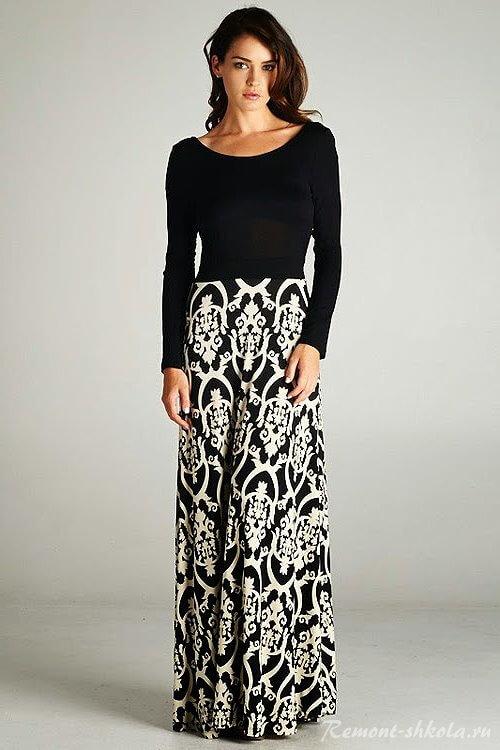 Женская юбка с рисунком дамаск