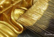 Фото Золотая краска для декора: тестирование на совместимость